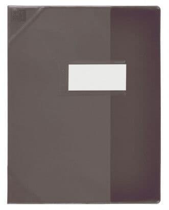 Oxford School Life - Protège cahier - 24 x 32 cm - noir translucide
