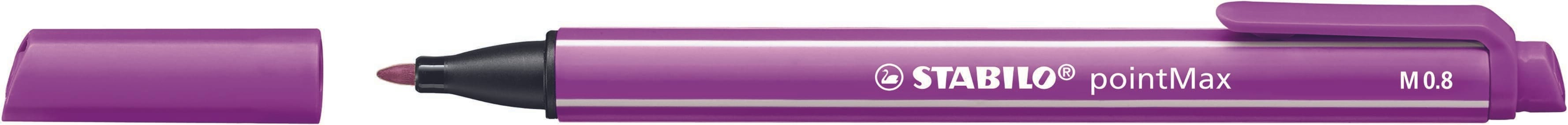 STABILO pointMax - stylo feutre - pointe moyenne - lilas