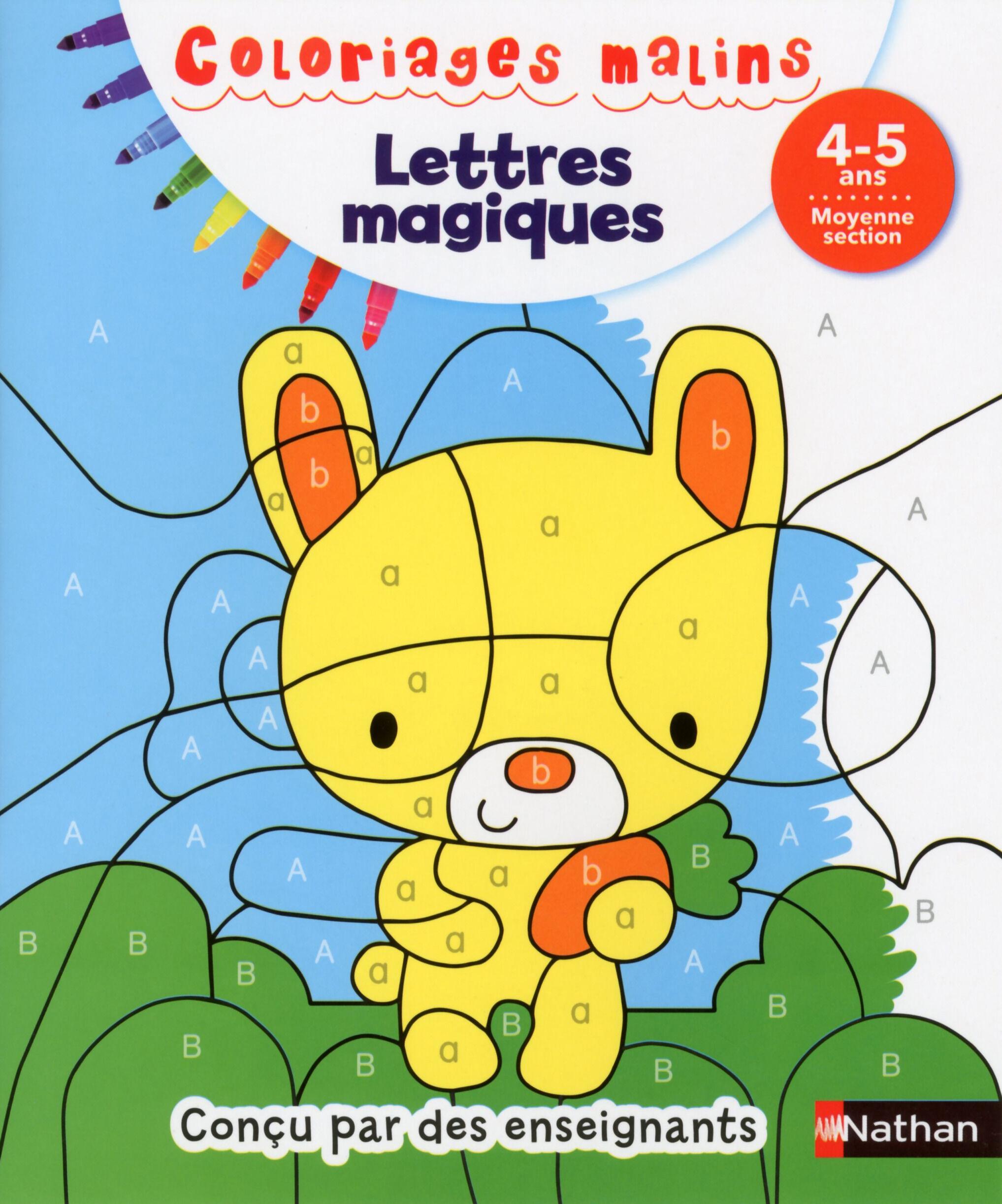 Coloriages malins - Lettres magiques moyenne section 4/5 ans