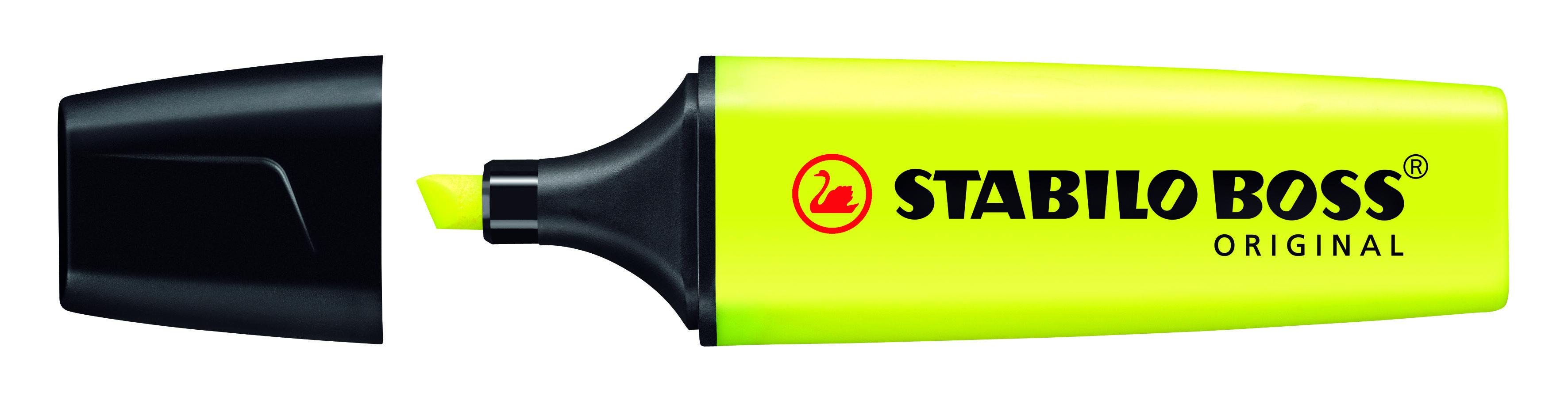 STABILO BOSS ORIGINAL - Pack de 4 surligneurs - orange, jaune, vert, rose
