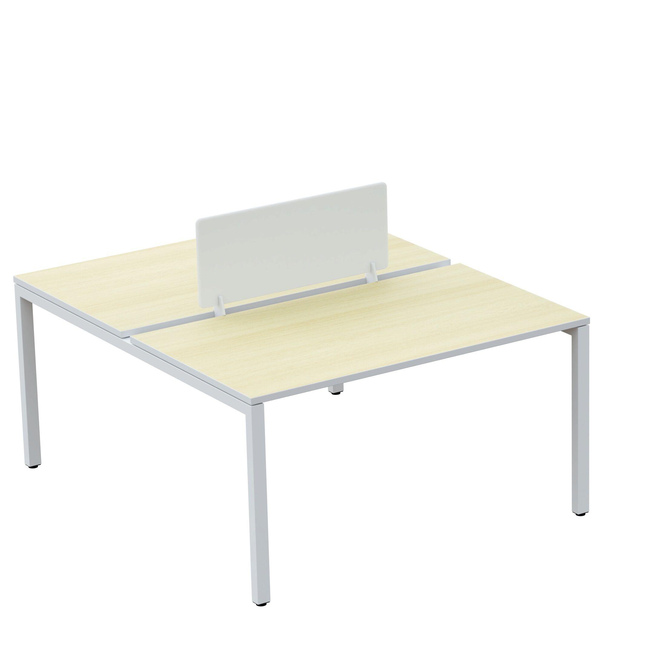 Écran de séparation pour bureau - L60 x H33 cm - hêtre
