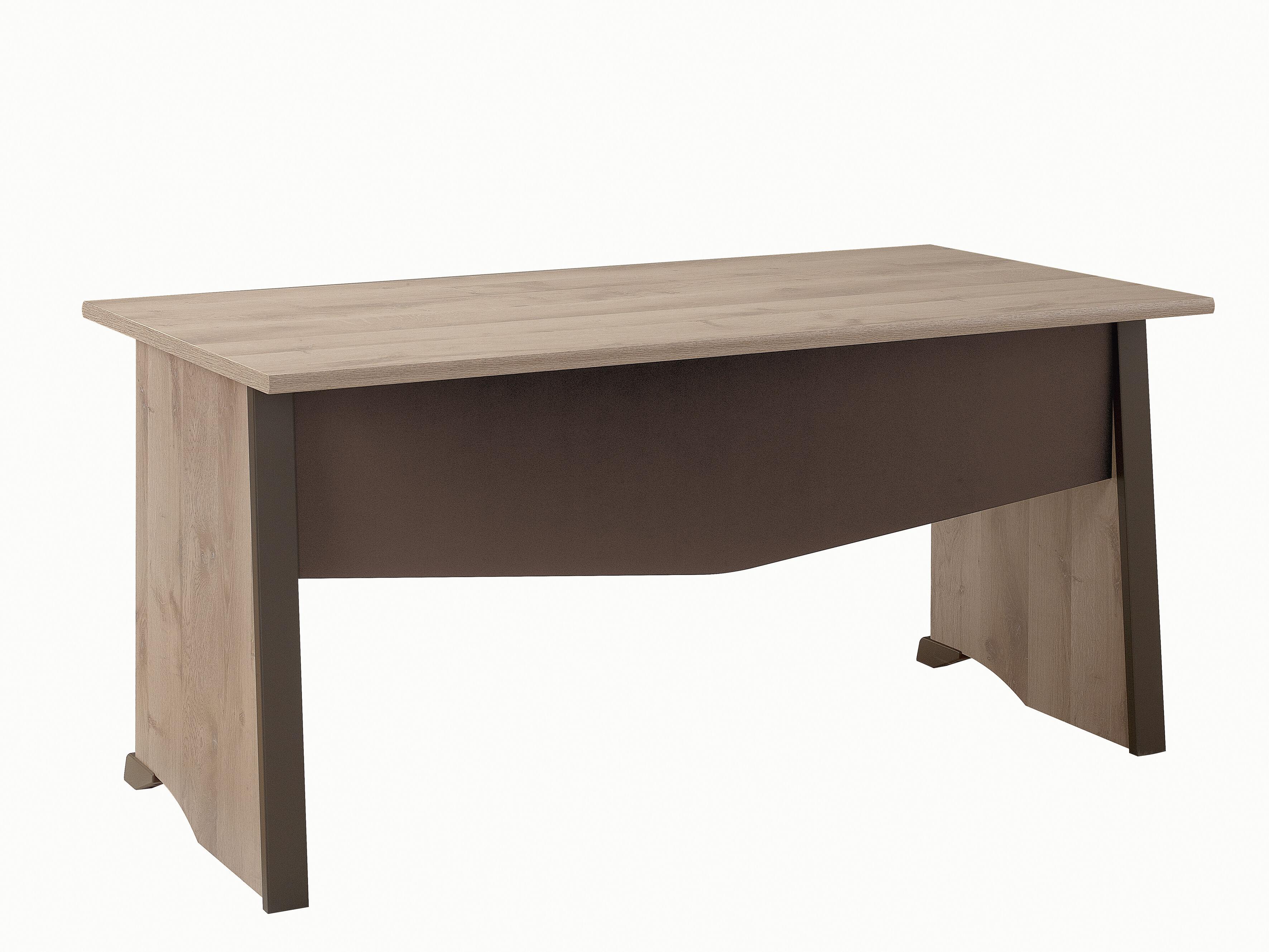 Bureau MAMBO - 120 cm - Pieds panneaux - Chêne/chocolat