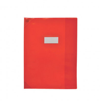 Oxford School Life - Protège cahier - 24 x 32 cm - rouge translucide