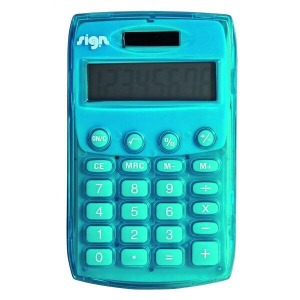 Calculatrice de poche - 8 chiffres - alimentation batterie et solaire - couleurs assorties
