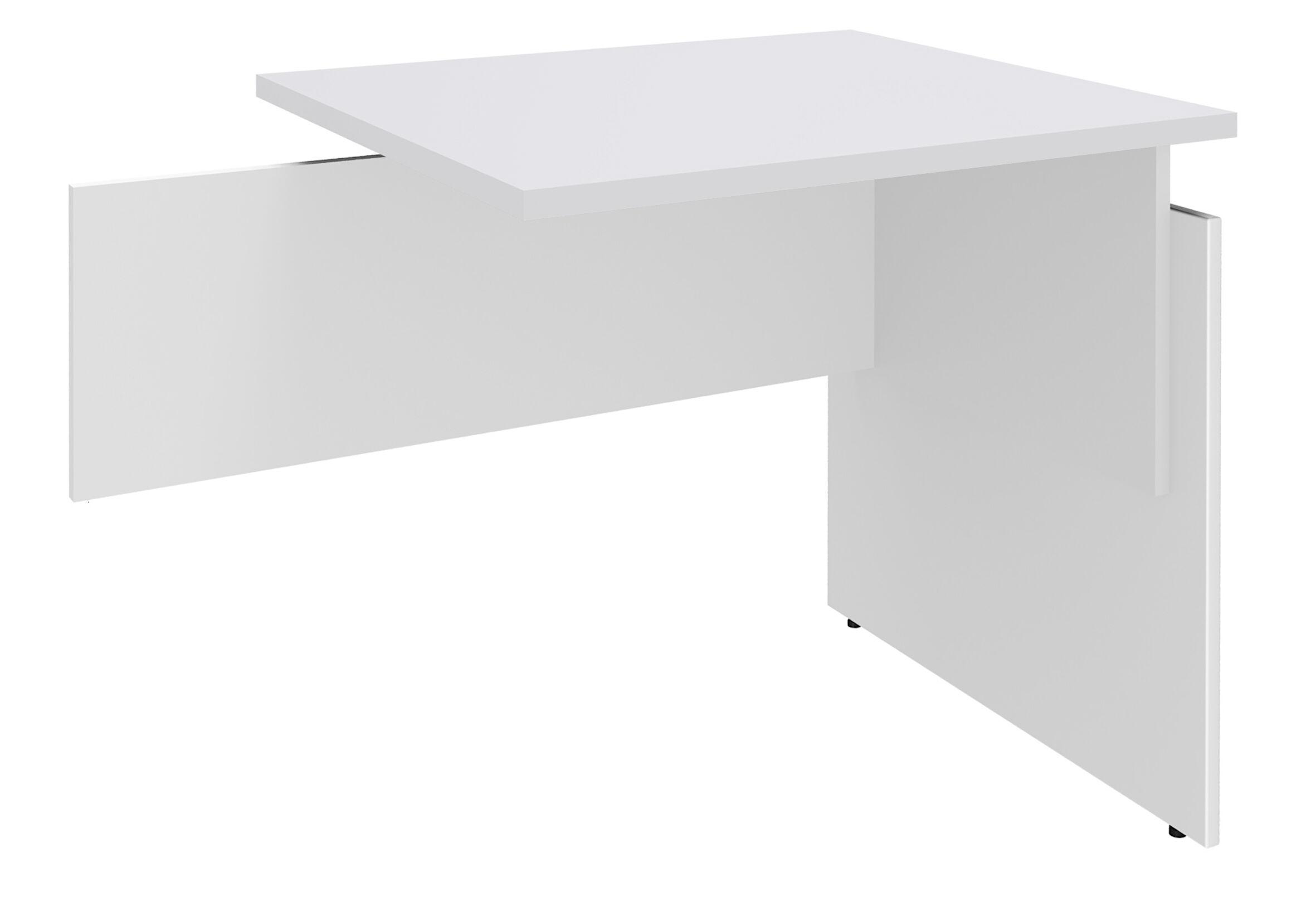 Retour direct pour Bureau INEO - Réglable en hauteur - L80 x H74/78/82 x P60 cm - Pieds Blanc/blanc - plateau blanc perle