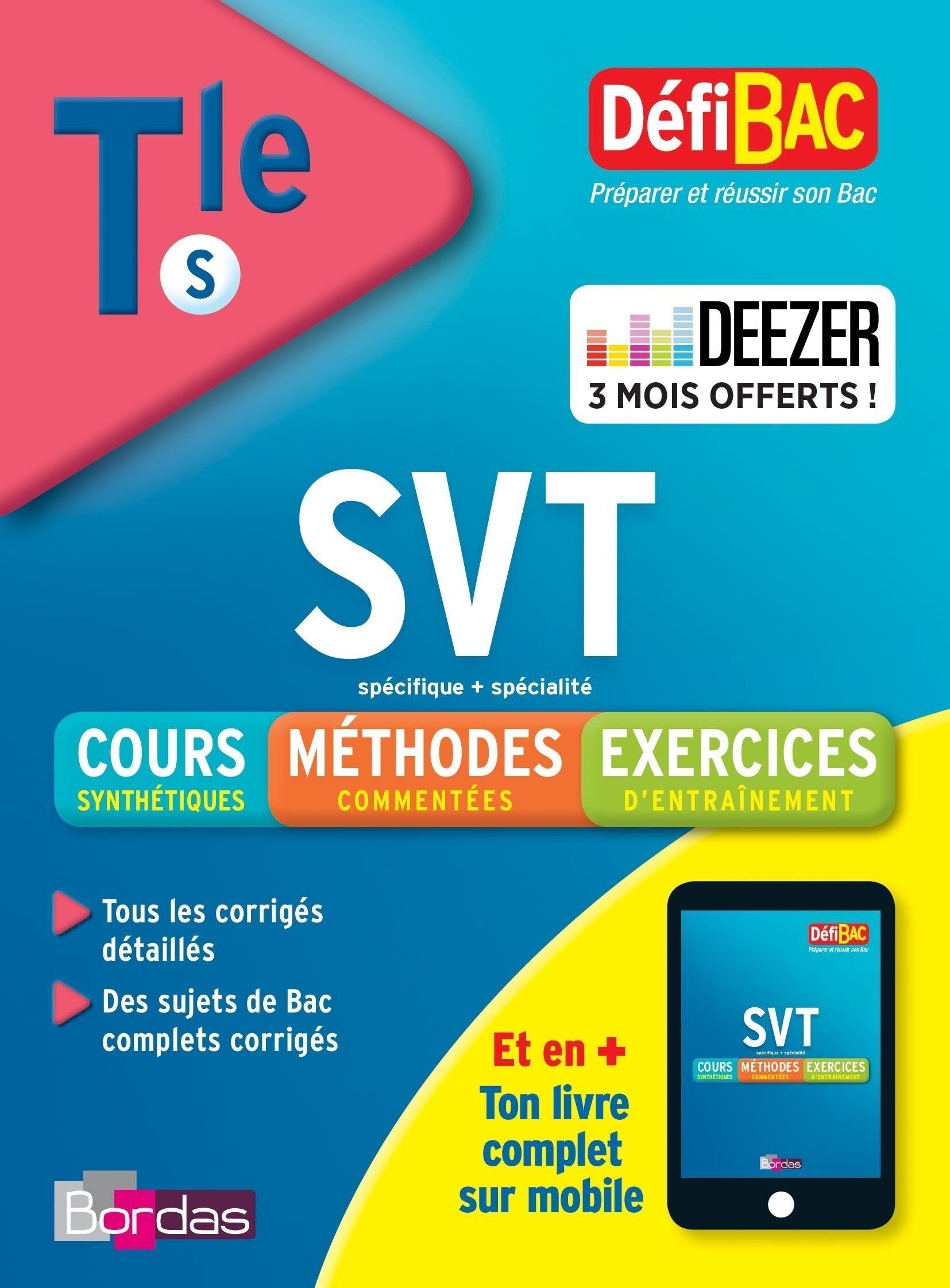Défibac Cours/méthodes/exos SVT Terminale S