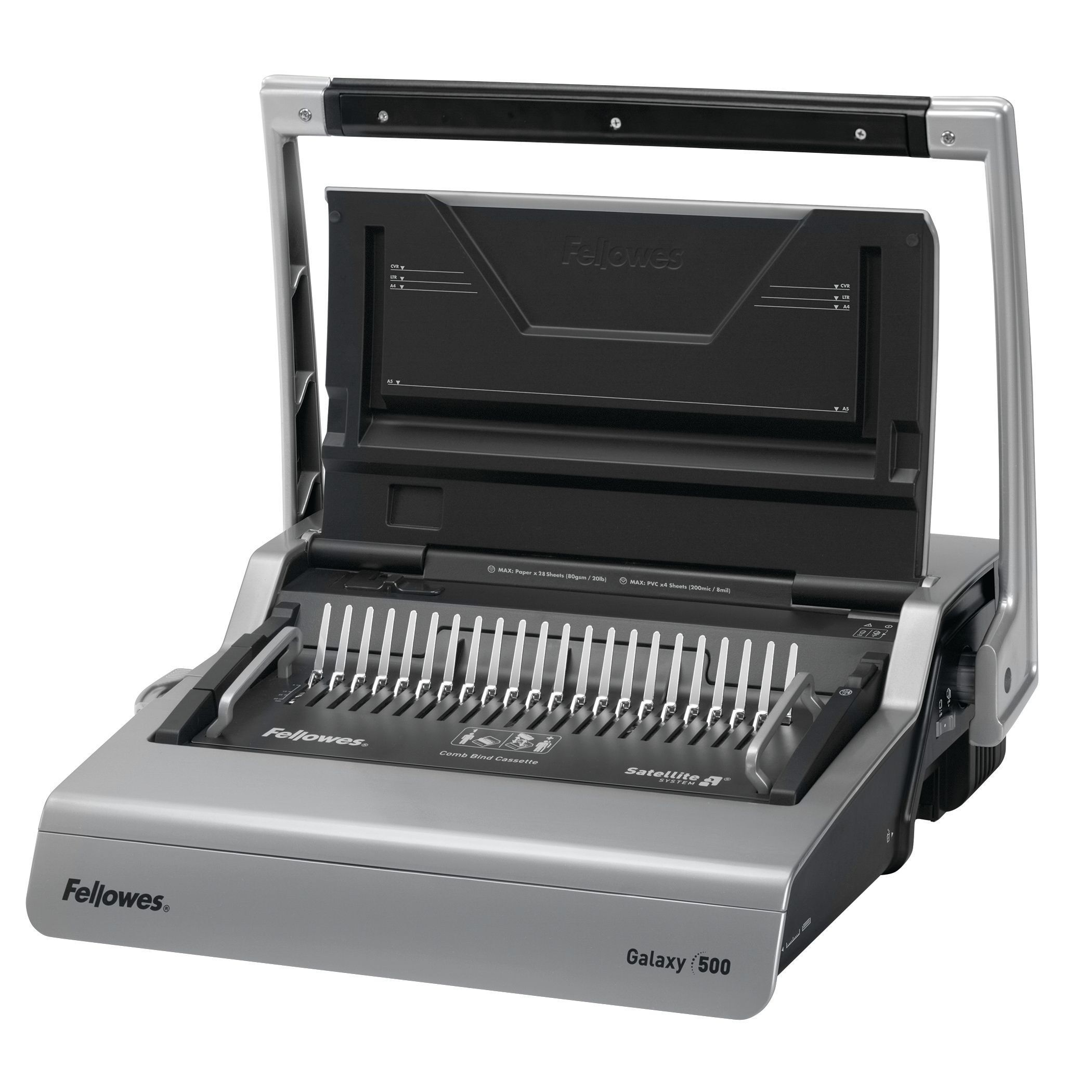 Fellowes Galaxy 500 - machine à relier / relieuse perforeuse manuelle - perfore 28 feuilles - relie 500f