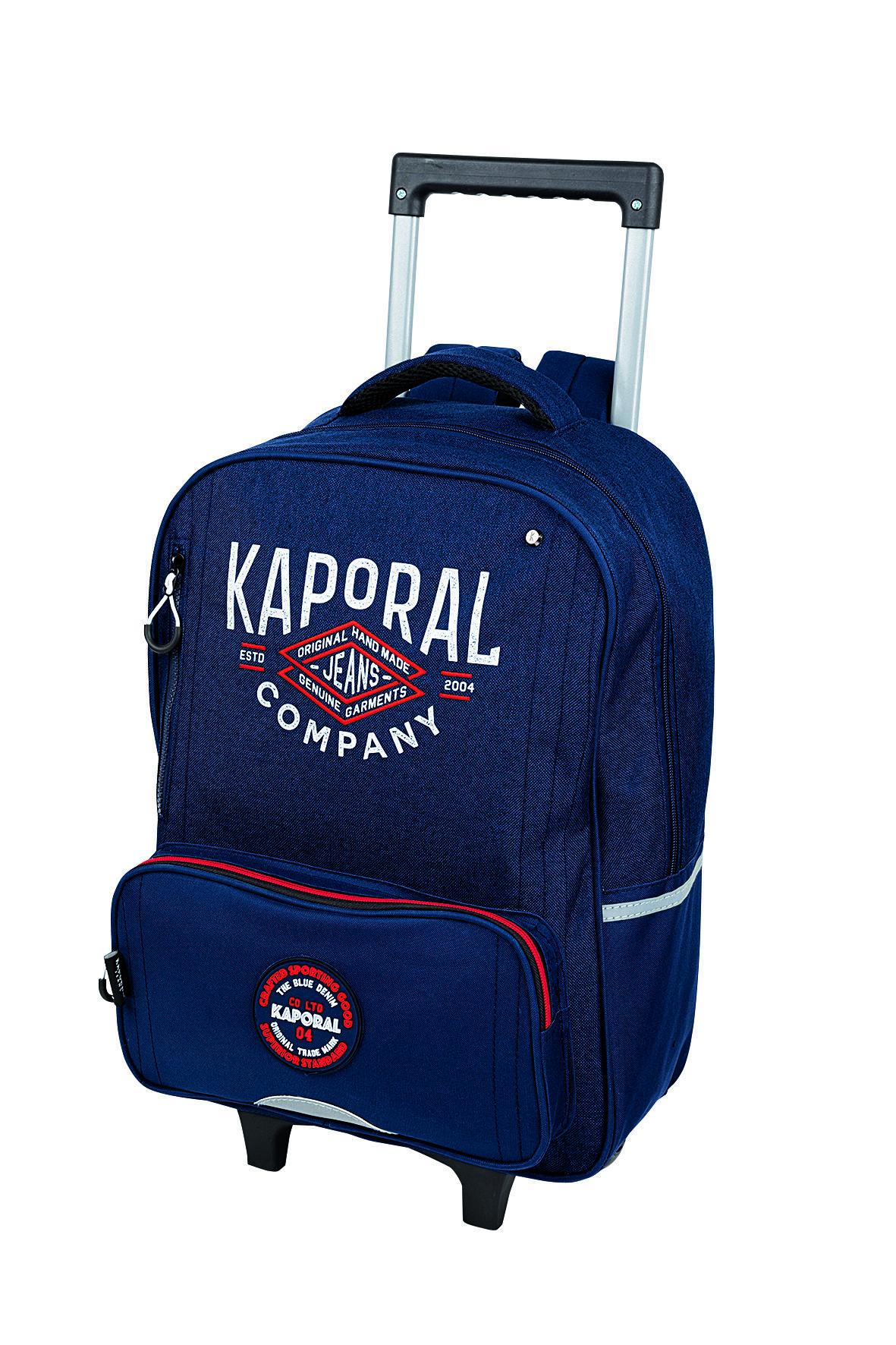 Kaporal Boy Primaire - Sac à dos à roulettes - Oberthur