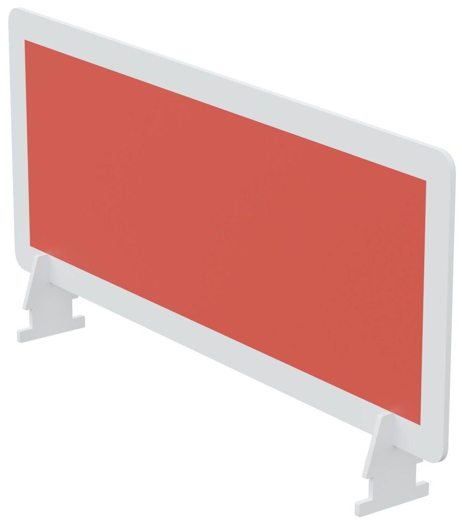 Écran de séparation pour bureau - L80 x H33 cm - rouge