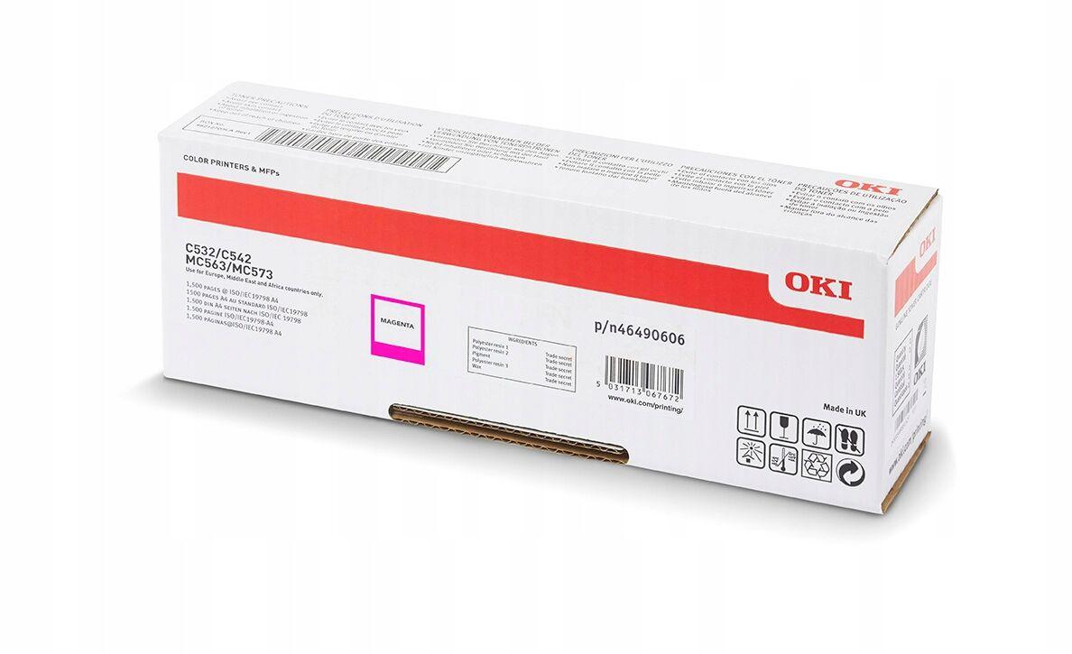 OKI 46490606 - magenta - cartouche laser d'origine