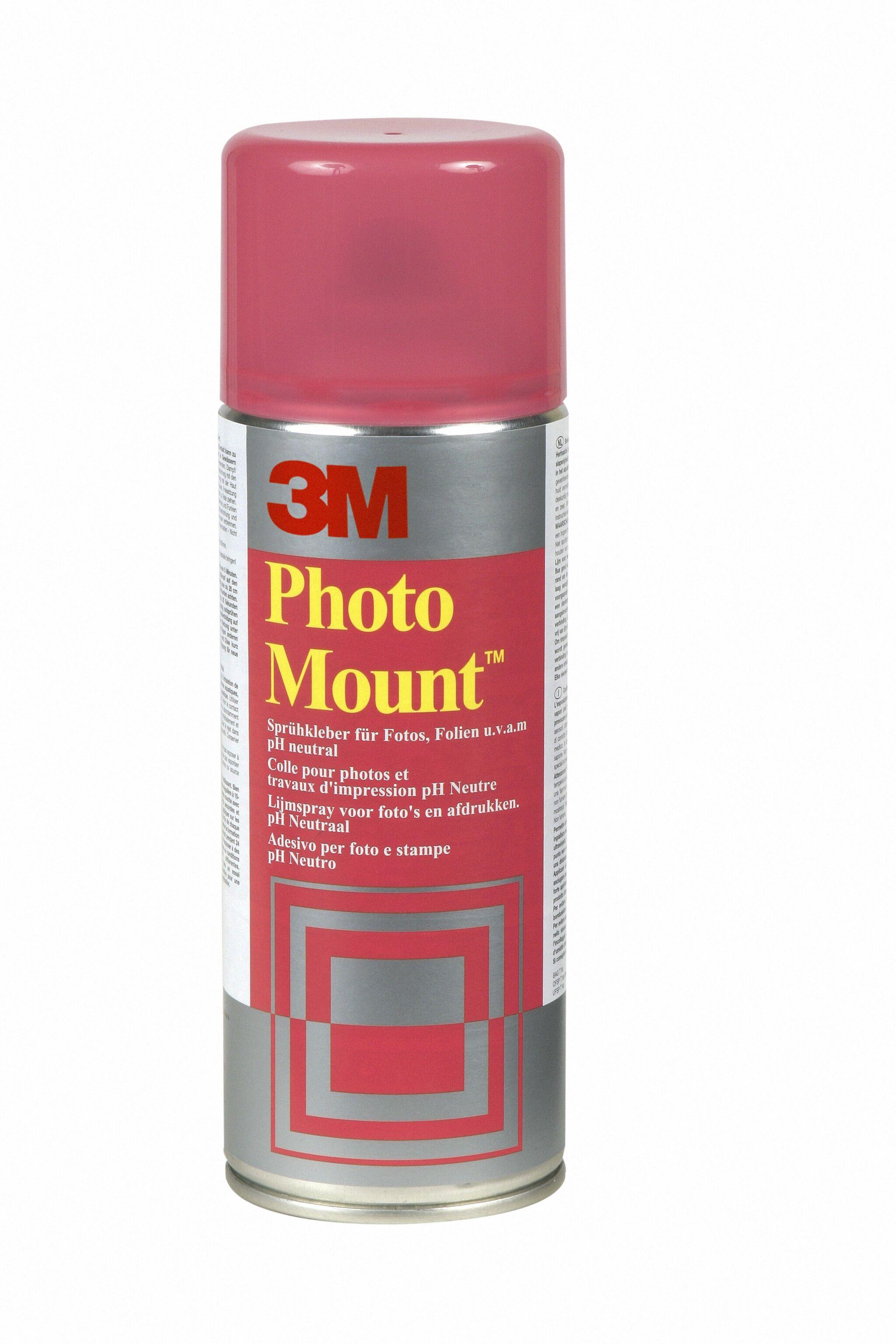 3M PhotoMount - Bombe de colle aérosol - Transparent - 400 ml