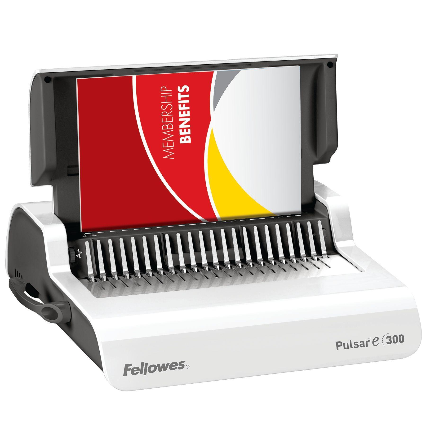 Fellowes Pulsar E-300 - machine à relier / relieuse perforeuse éléctrique - Perfore 20 feuilles - relie 300f