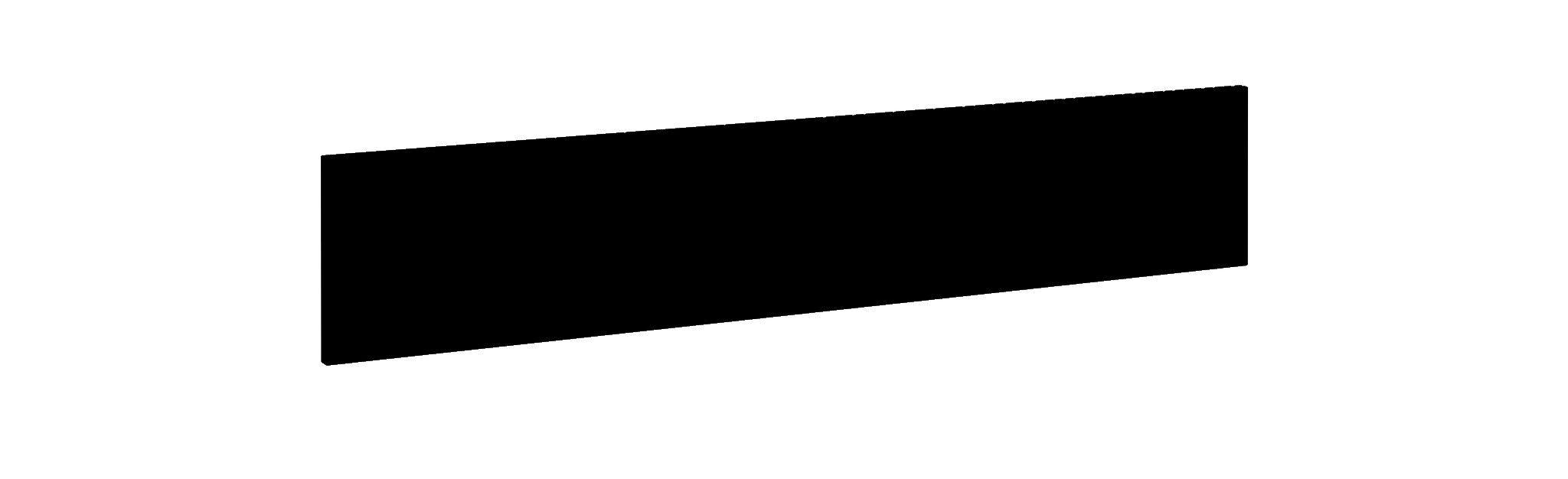 Voile de fond pour bureau MAMBO L160 cm - L130 x H25 cm - Noir