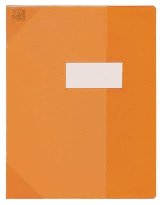 Oxford School Life - Protège cahier - 17 x 22 cm - orange translucide
