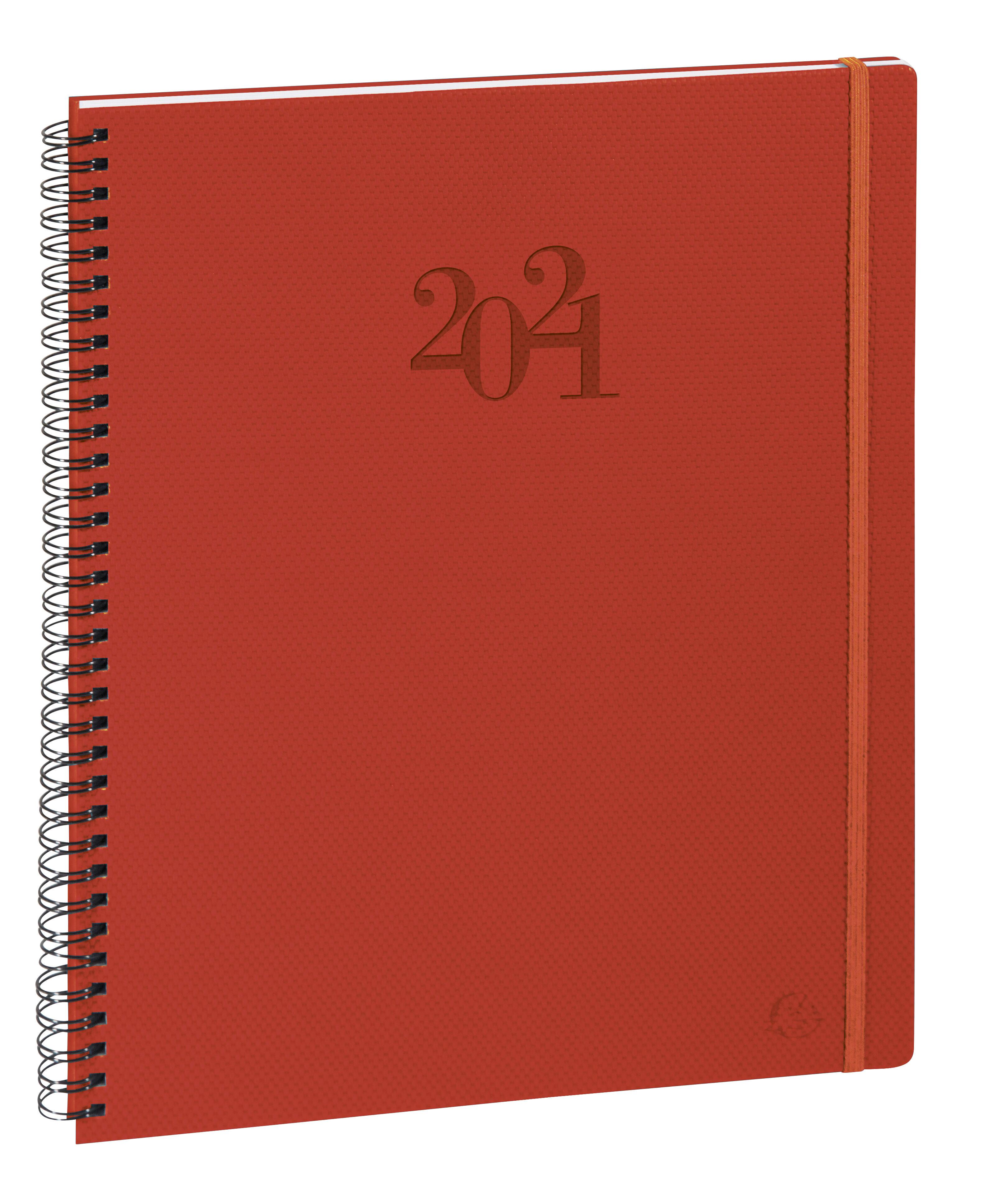 Swan Eurotime 29W - Agenda spiralé - 1 semaine sur 2 pages - 21 x 29,7 cm - disponible dans différentes couleurs - Exacompta