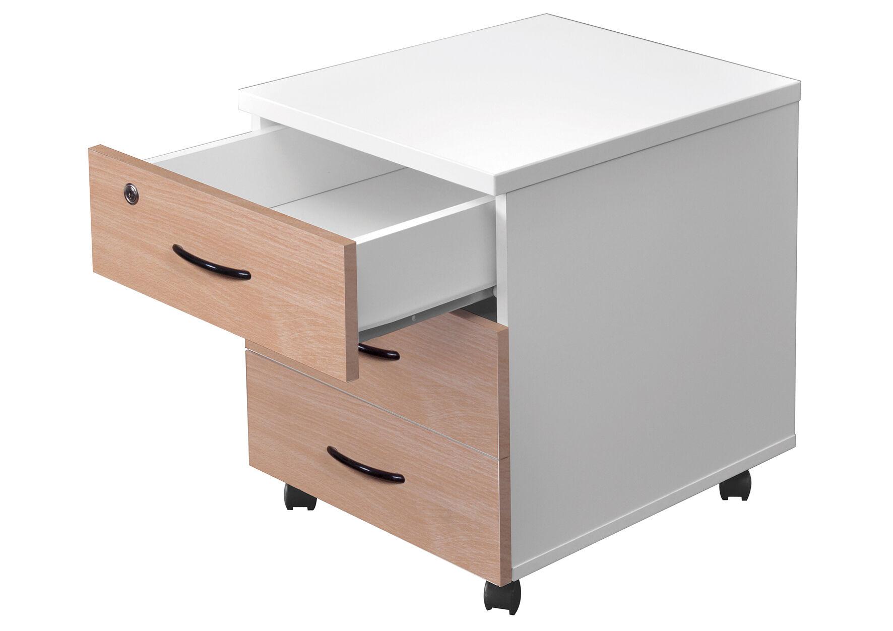 Caisson mobile MT1 elegance - H54 x L42 x P50 cm - 3 tiroirs - hêtre