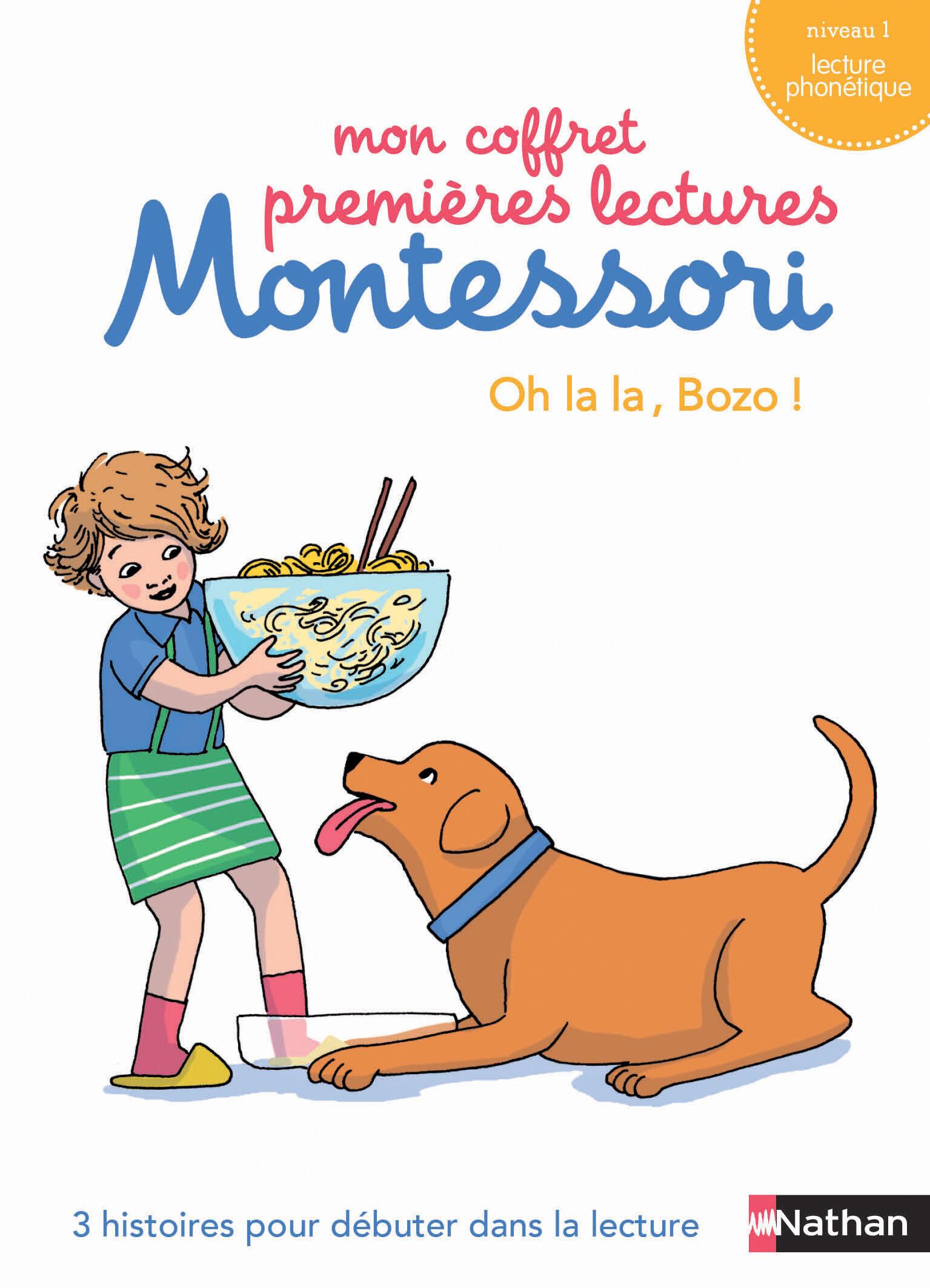 Mon coffret premières lectures Montessori : oh la la, bozo ! - niveau 1 - 4/7 ans
