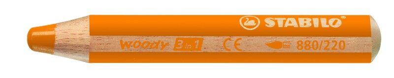 STABILO woody 3 in 1 - crayon de couleur pointe large - orange