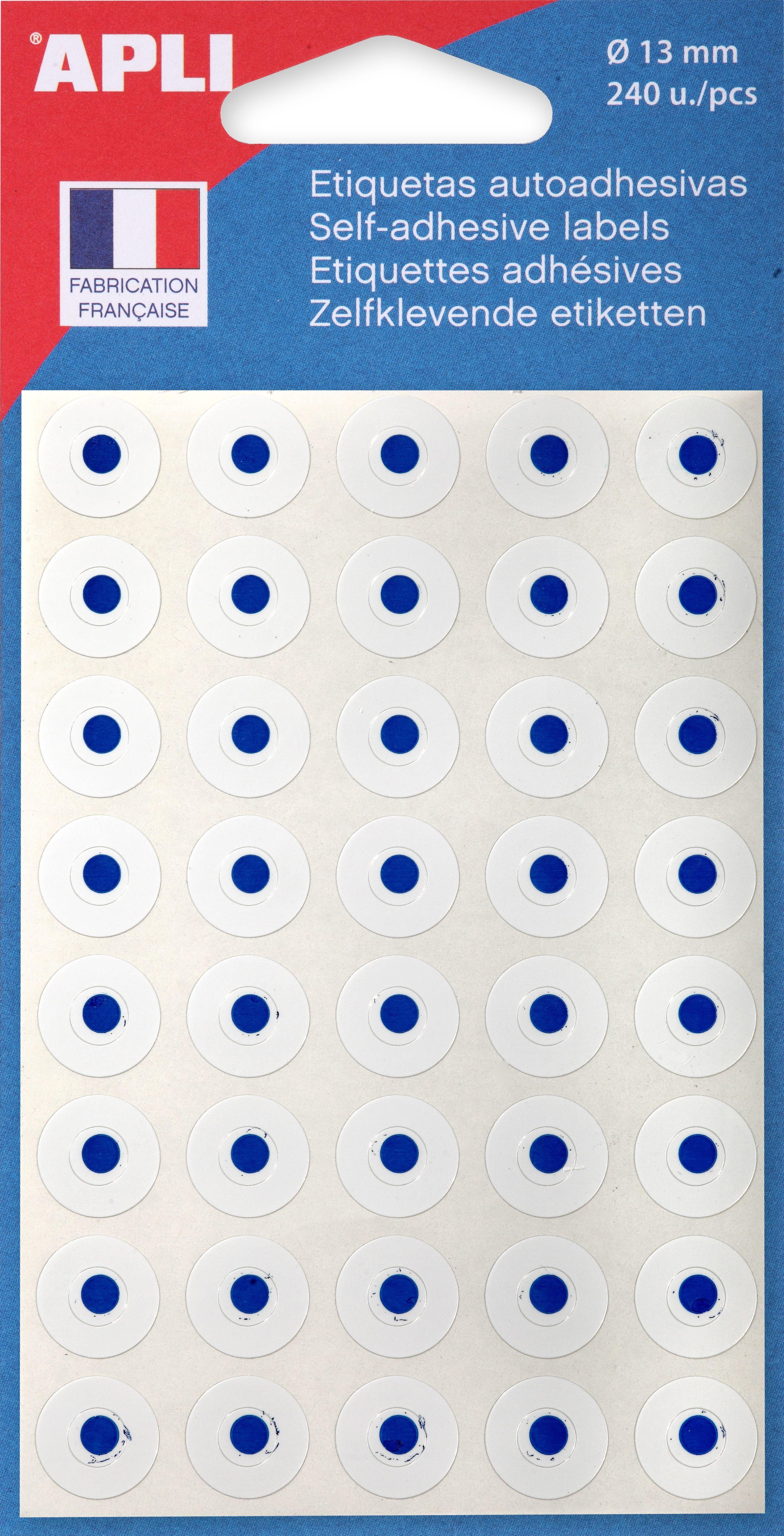 Apli - 240 Œillets blancs - diamètre 13 mm - réf 111931