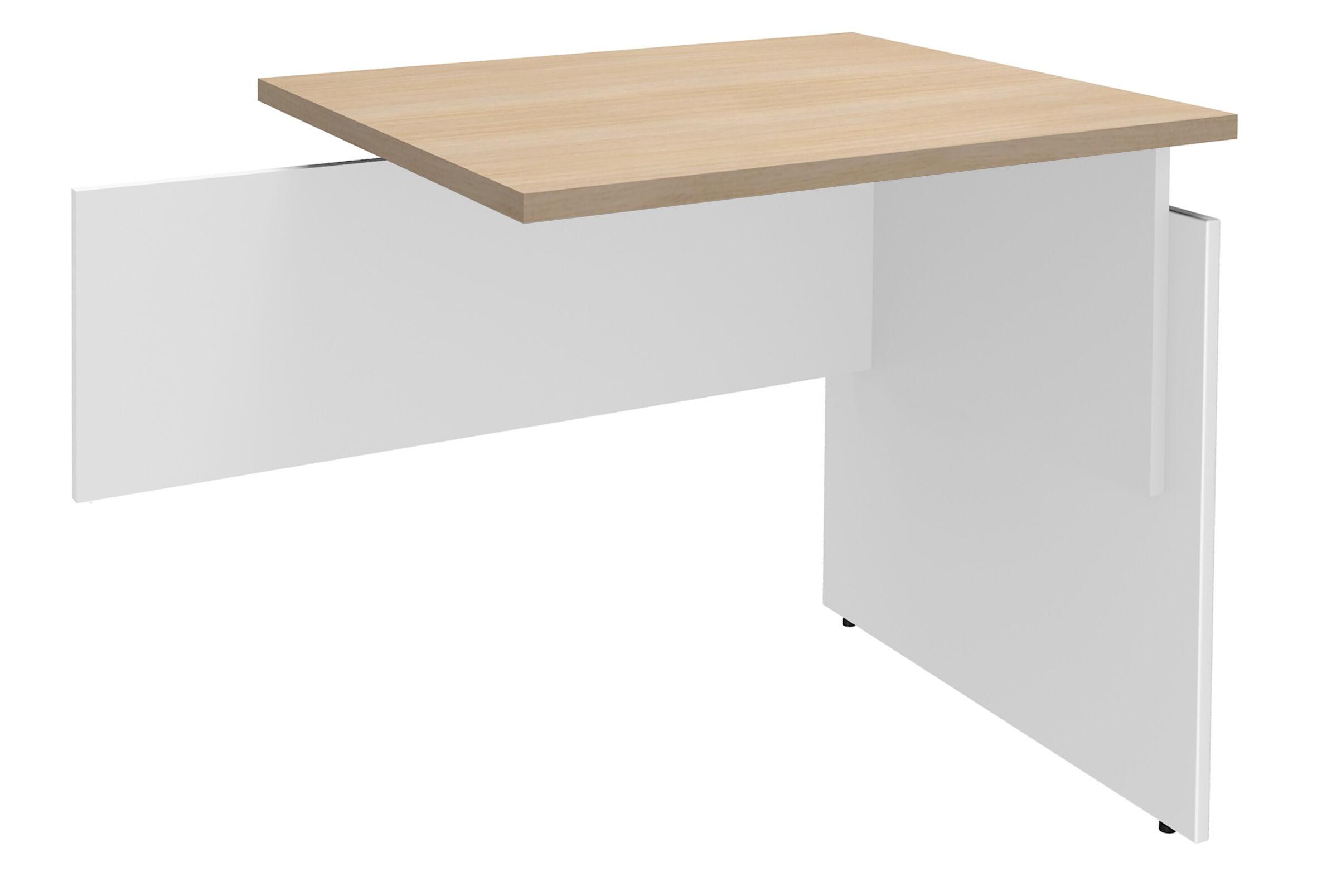 Retour direct pour Bureau INEO - Réglable en hauteur - L80 x H74/78/82 x P60 cm - Pieds Blanc/blanc - plateau imitation chêne clair