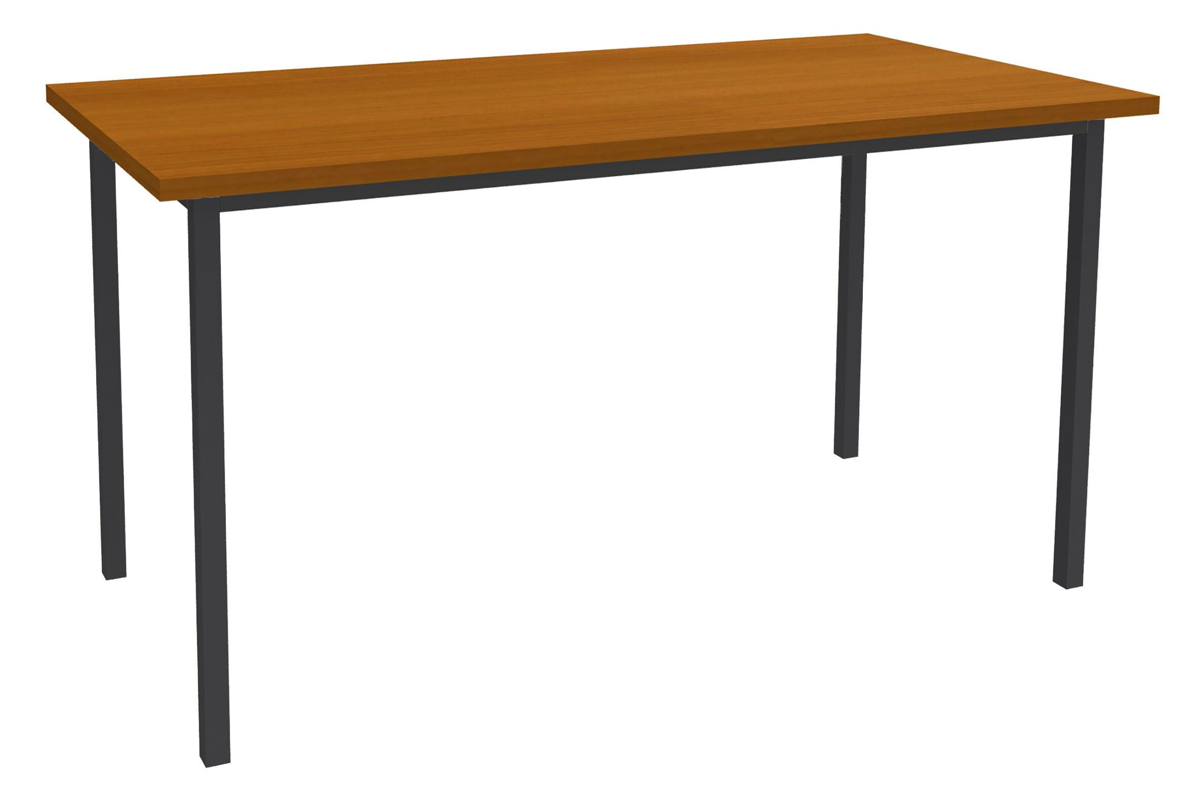Table de réunion Rectangulaire - 140 x 70 cm - Pieds anthracite - imitation merisier