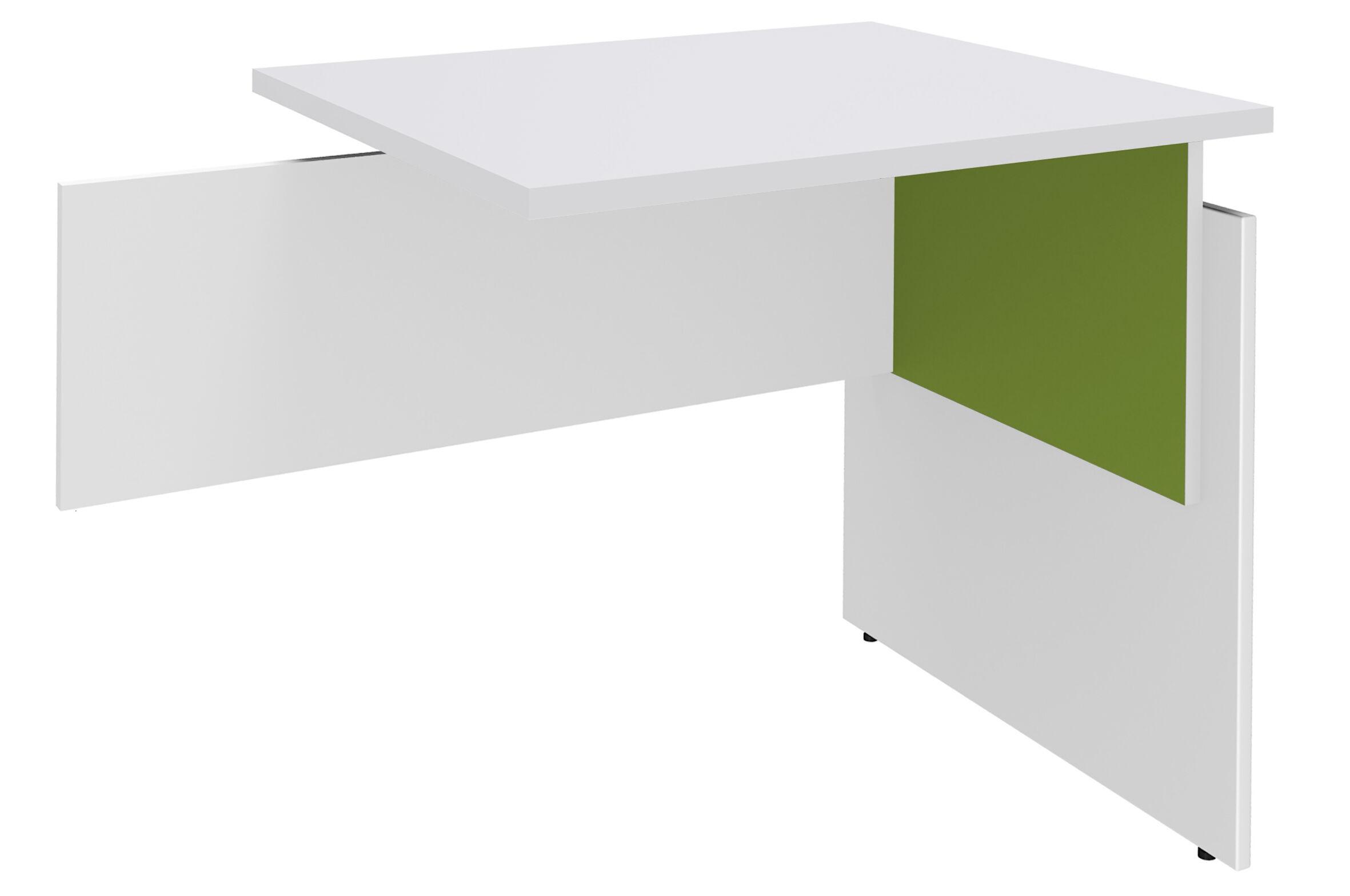 Retour direct pour Bureau INEO - Réglable en hauteur - L80 x H74/78/82 x P60 cm - Pieds Blanc/anis - plateau blanc perle