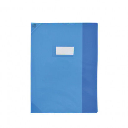 Oxford School Life - Protège cahier - 24 x 32 cm - bleu translucide