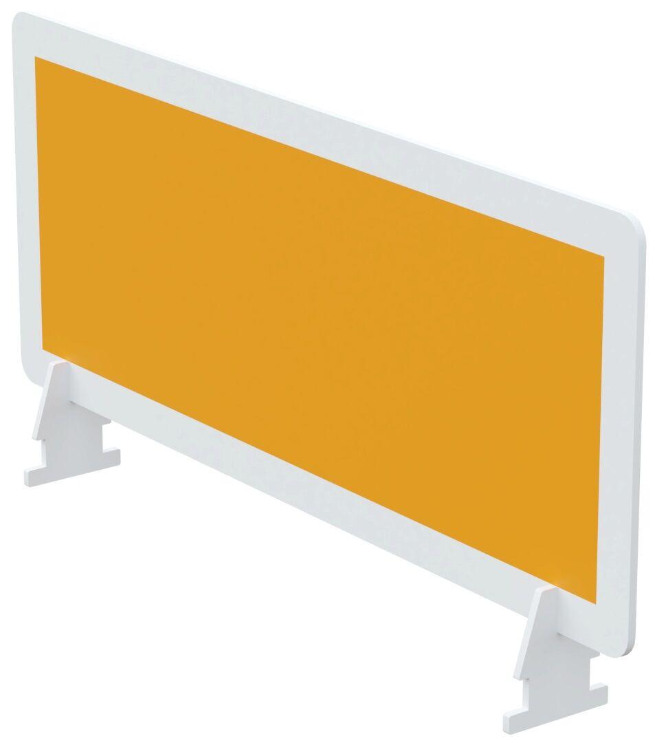 Écran de séparation pour bureau - L60 x H33 cm - orange