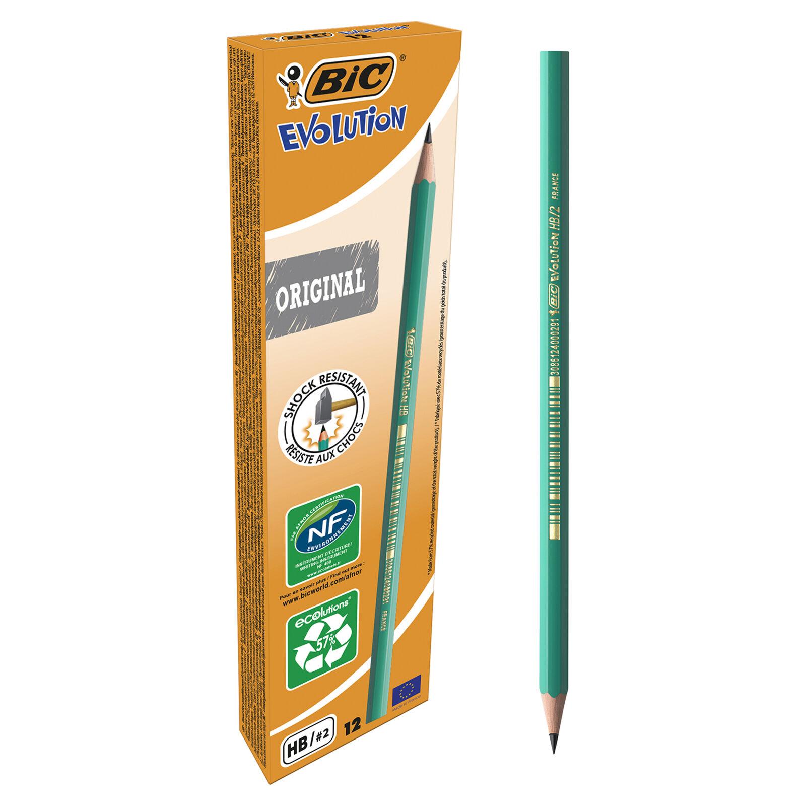 BIC ECOlutions EVOLUTION 650 - Pack de 12 Crayons à papier - HB