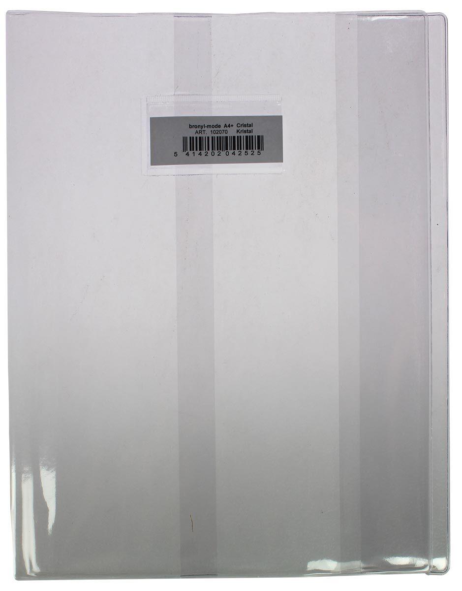 Protège cahier A5 transparent - 17 x 22 cm - En plastique solide de 350 microns - avec fenêtre et étiquette blanche