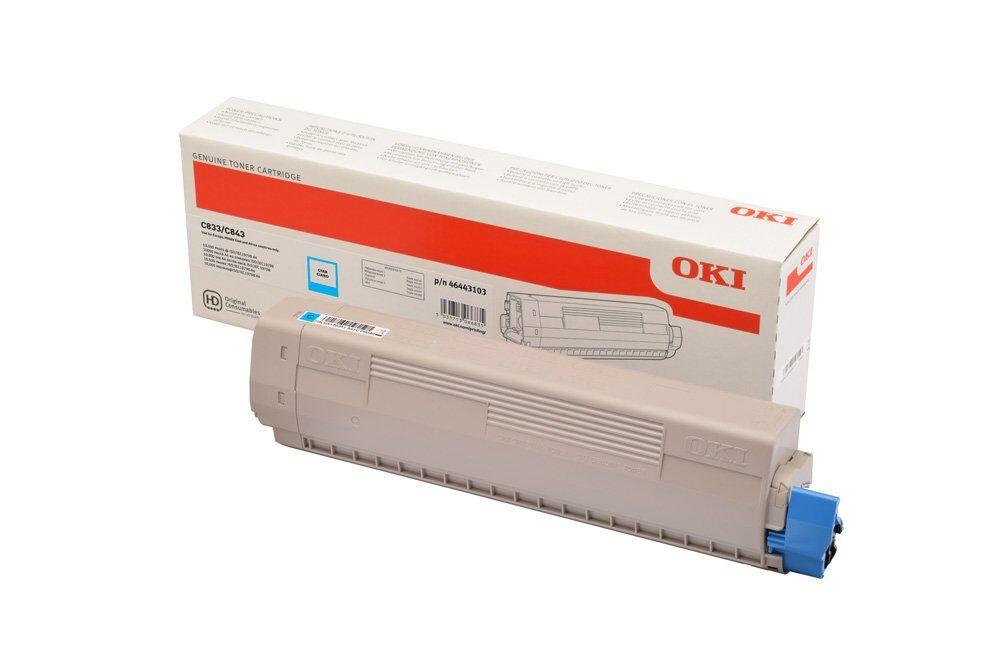 OKI 46443103 - cyan - cartouche laser d'origine