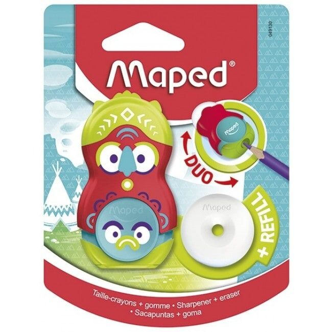 MAPED Loopy soft - Taille crayon gomme - 1 trou