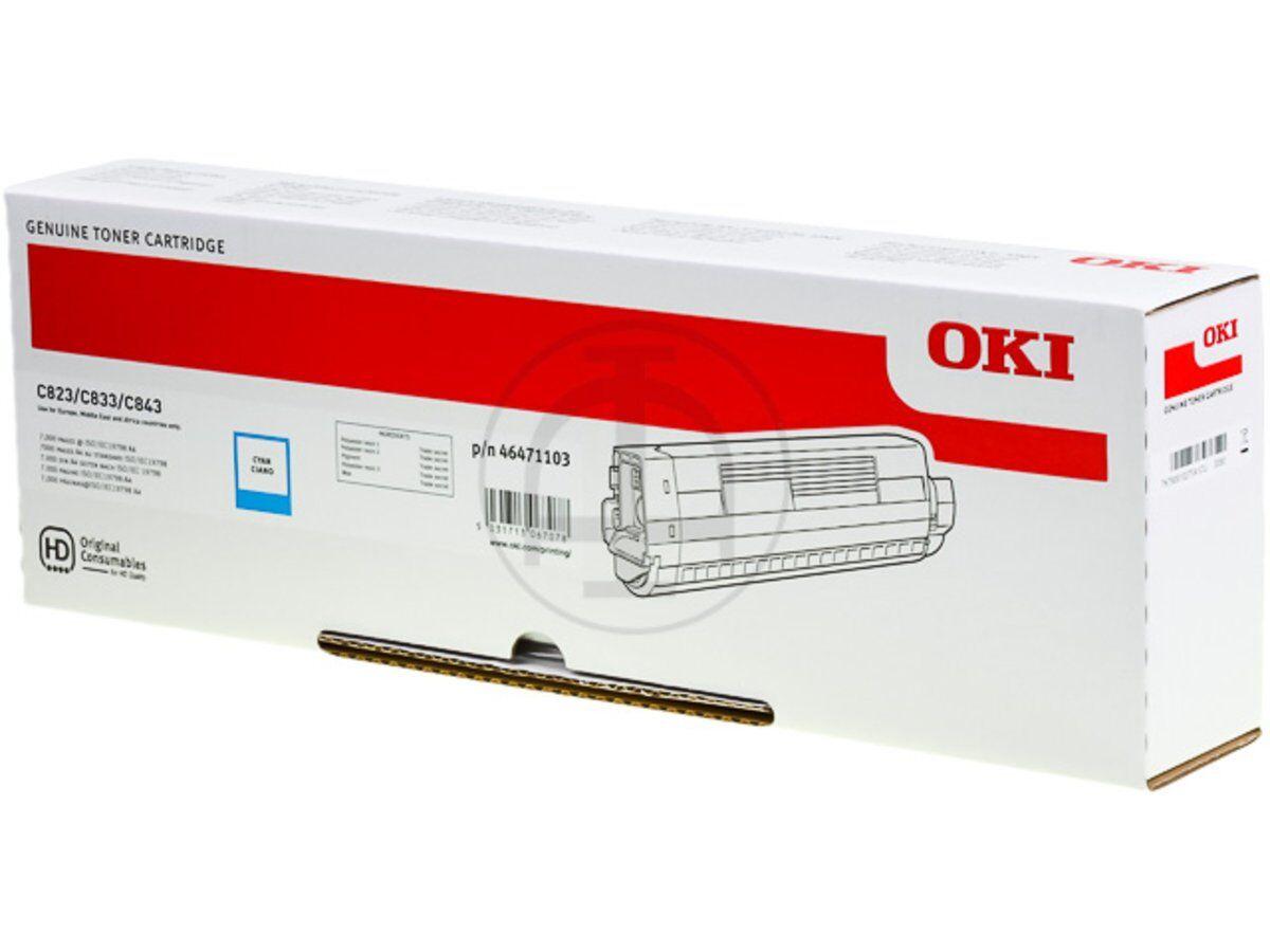 OKI 46471103 - cyan - cartouche laser d'origine