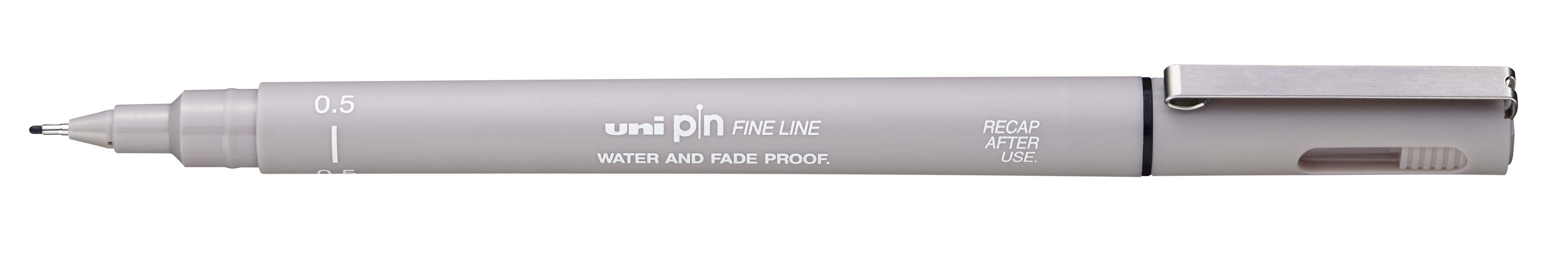 UNI PIN - Feutre fin - pointe calibrée - 0,5 mm - gris clair