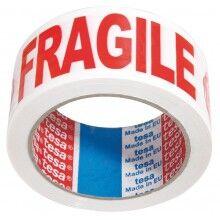 Tesa - Ruban adhésif d'emballage - Fragile - 50 mm x 66 m