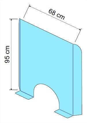 Exacompta - Vitre de protection de comptoir à poser - 95 x 68 cm