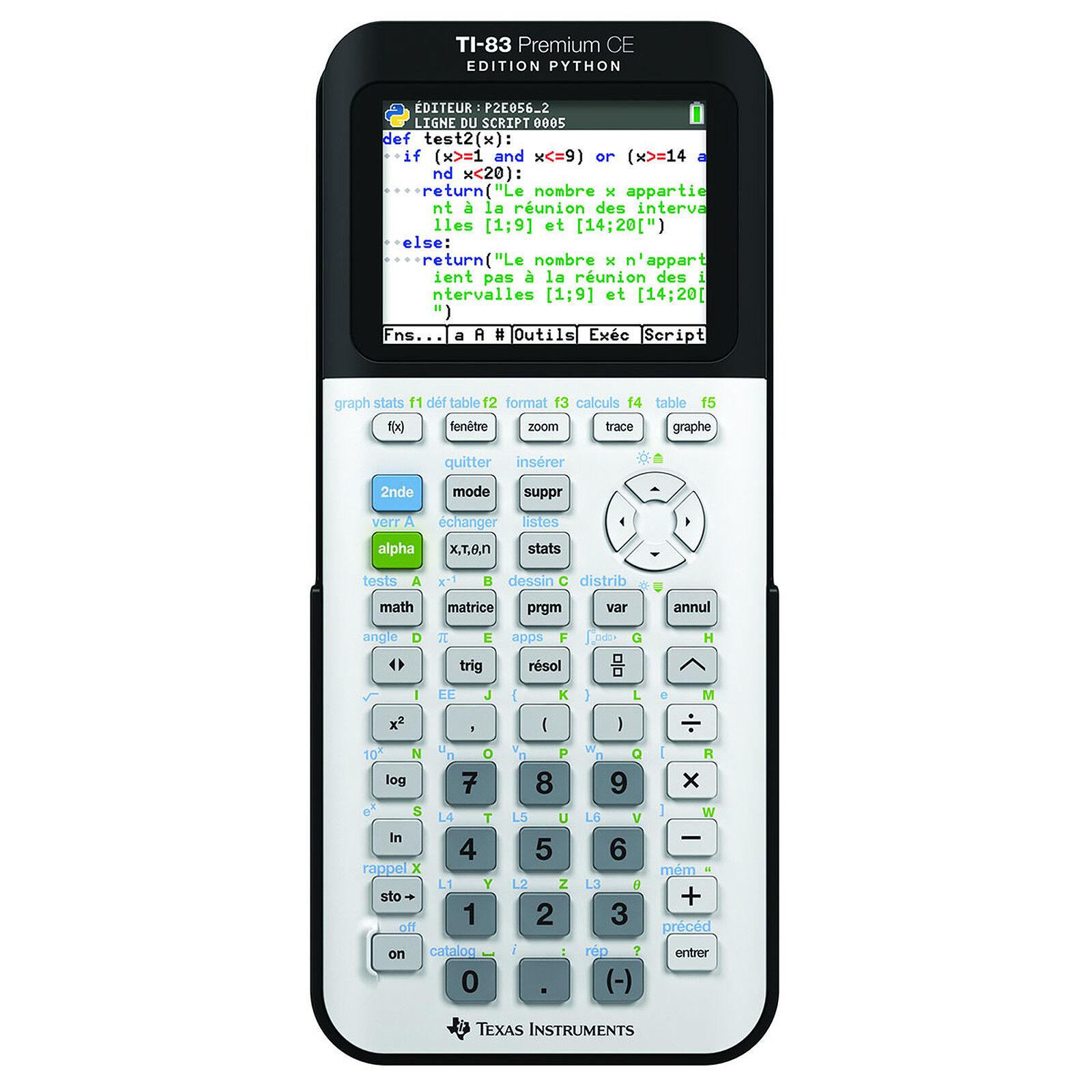 Calculatrice graphique TI83 Premium - Edition Python