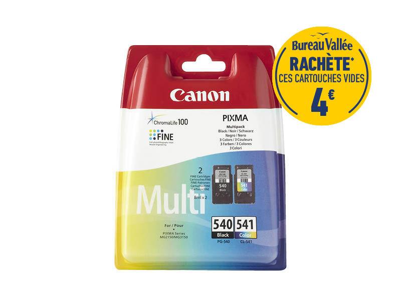 Canon PG-540/CL-541 - Pack de 2 - noir, cyan, magenta, jaune - cartouche d'encre originale