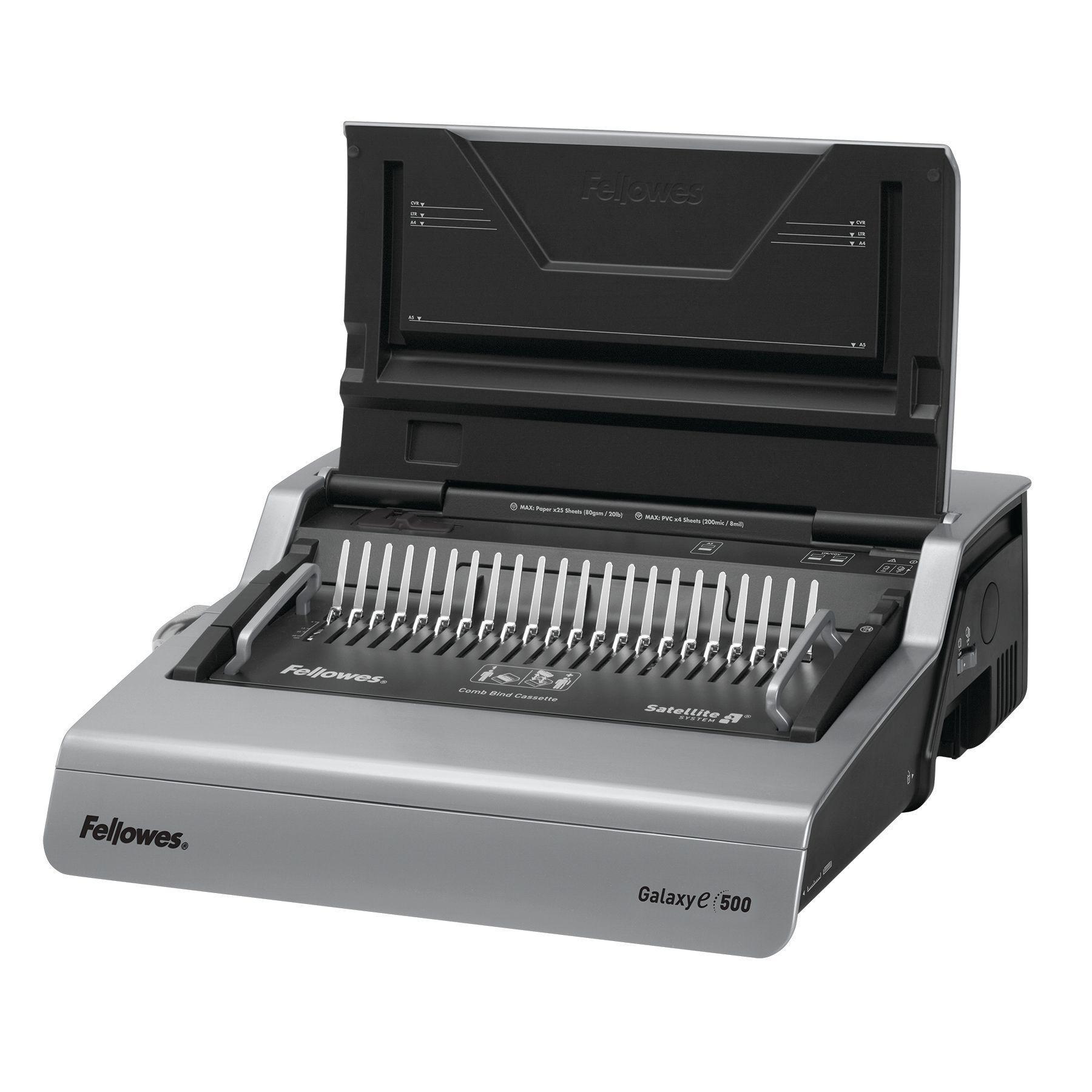 Fellowes Galaxy-E 500 - machine à relier / relieuse perforeuse éléctrique - perfore 25 feuilles - relie 500f