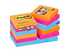 Post It - Pack de 12 Blocs - Notes Super Sticky - 90 feuilles - 47,6 x 47,6 mm - Bangkok