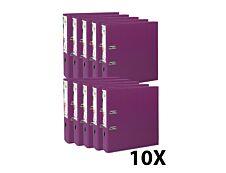 Exacompta Prem'Touch - 10 Classeurs à levier - Dos 80 mm - A4 Maxi - pour 600 feuilles - fuchsia