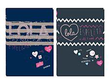 Lola Espeleta Agenda Cœur en sequins 1 jour par page Oberthur