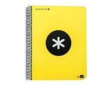 Antartik - Cahier à spirale A4 (21x29,7 cm) - 240 pages - petits carreaux (5x5 mm) - jaune