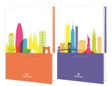 Cities - Agenda 1 jour par page - 12,5 x 17,5 cm - 2 décors assortis Oberthur
