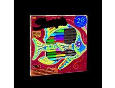 SHARPIE POISSON - Pack de 28 - Marqueurs permanents - pointes et couleurs assorties -