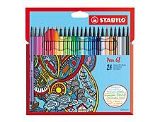 Stabilo Pen 68 - Pack de 24 feutres - assortis