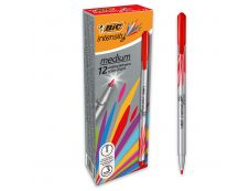 BIC Intensity - Pack de 12 - feutres fins - pointe moyenne - rouge