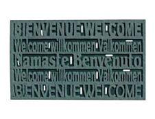 Tapis caoutchouc floqué - HOME - 45 x 76 cm - marron