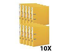 Exacompta Prem'Touch - 10 Classeurs à levier - Dos 80 mm - A4 Maxi - pour 600 feuilles - jaune
