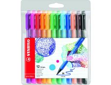 STABILO pointMax - 12 feutres d'écriture - pointe moyenne - couleurs assorties